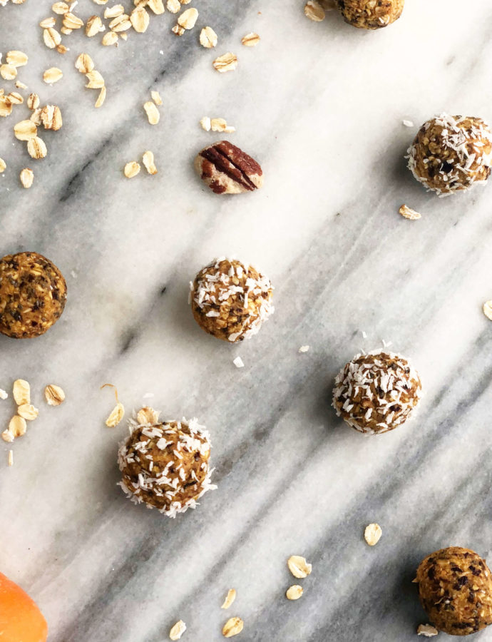 Raw Carrot Cake Energy Balls